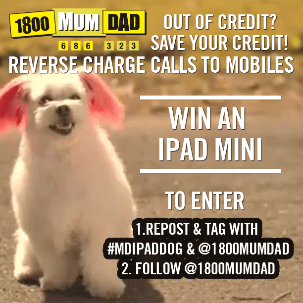 1800MumDad iPad Mini Instagram Poster